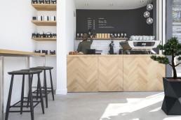 donica monumo w kawiarni