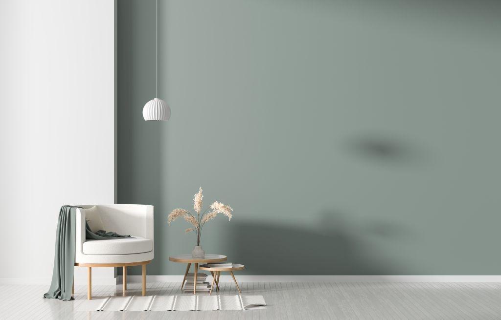 donice w minimalistycznym salonie